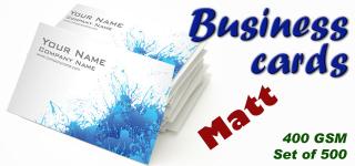Business cards X500, Colour, 450gsm, Matt