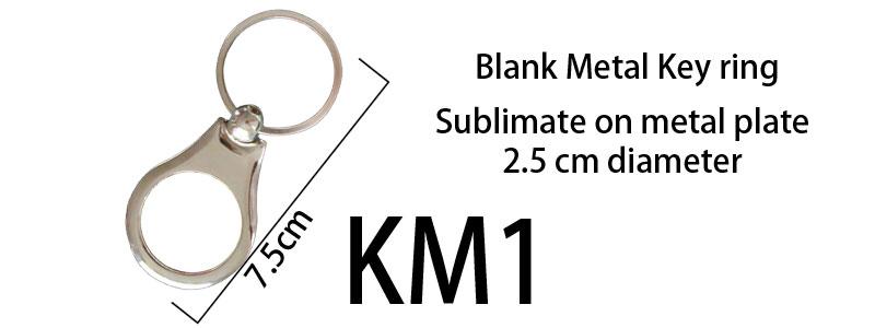 Blank Metal Keyring 01