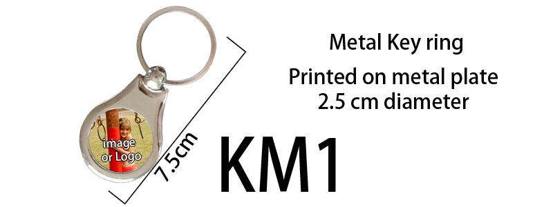 Printed Metal Keyring 01