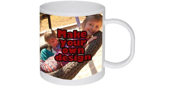 Printed plastic mug