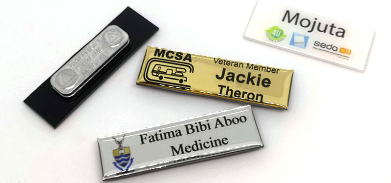 Name Badge (Doming) with magnet or pin