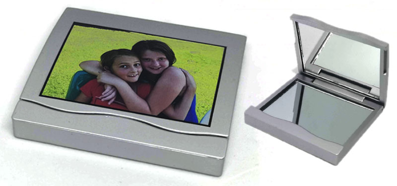 Printed Square Compact Mirror