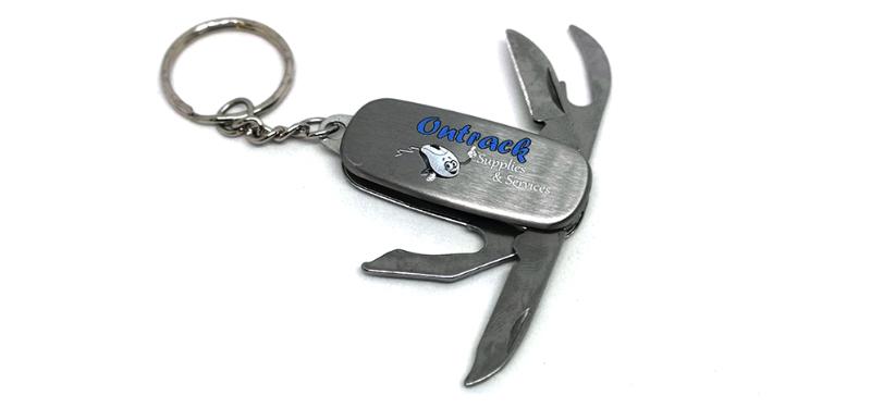 Printed pocket knife keyring