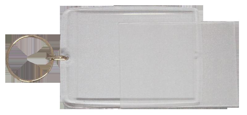 Blank Acrylic Keyring (44mm X 60mm)