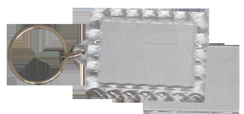 Blank Acrylic Keyring (28mm X 40mm) Photo clip-in keyring