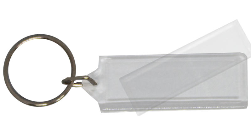 Blank Acrylic Keyring (15mm X 41mm)