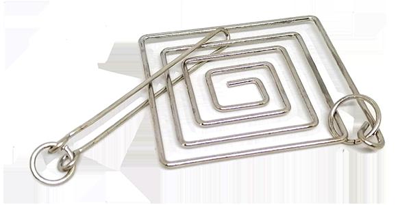 Wire brainteaser puzzle Large square maze (03)
