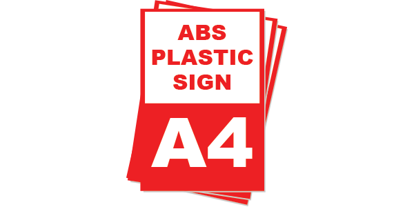 A4 ABS Plastic Sign board