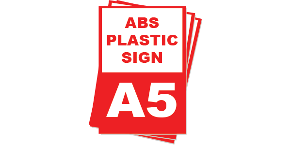 A5 ABS Plastic Sign board
